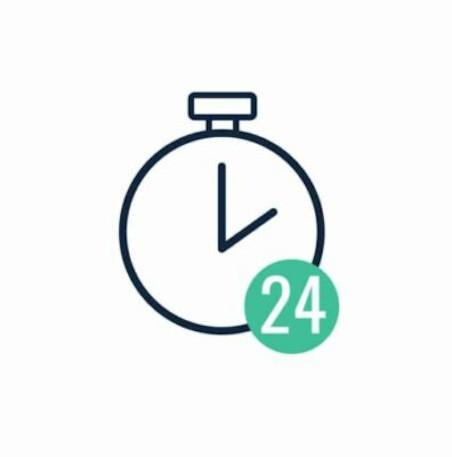 24 Stunden erreichbar